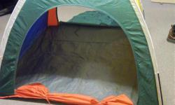 """Kid's play tent for sale. Multi color. 2 doors. Size is 48"""" X 48"""" X 35"""" high. Great to introduce kids to camping. Good for indoors or outdoors. Only $15. We are located in Orleans. See our list of other items for sale. First come, first served."""