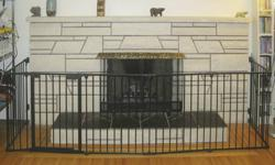 "Kidco Hearth Gate plus 2 extensions - one 24"" extension and one 8"" extension. Mint condition. Brand new this complete fence including opening gate would cost $367.19 (see detailed description below) Kidco Hearth Gate G70? by KidCo Retail Price: $239.95"