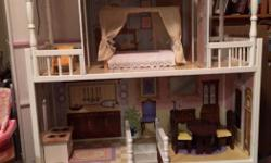 Large Savannah Doll house made by kid craft Furniture included as shown Retails around $225 new