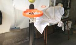 Get ready to SLAM DUNK like Larry Bird (nba) or SUE BIRD (wnba)In Excellent condition, we have a childrens' dream game. The post can easily expand from 4 feet up to 6 feet. Base unit is water reservoir to stabilize the unit. Comparative units sell for