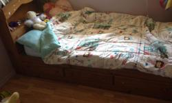 Kids bed with drawers $50 2506618496