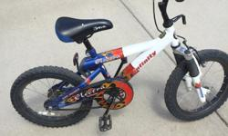 This bike is suitable for a 4 to 7 year old