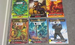 $2 each or 3 for $5 Beast Quest - Zepha the monster squid Beast Quest - Tagus the night horse Beast Quest - Epos the winged flame Beast Quest - Sting the Scorpion Man Beast Quest - Narga the sea Monster Beast Quest Tartok the ice beast Goosebumps -