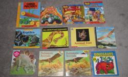$2 each Cargo Machines and what they do Tonka Joe - Volcano Rescue Bob the Builder - Bob's Birthday Bob the Builder - Bob's Recycling Day Reptiles, I can read about All about Rattlesnakes Animal Feet Flying Dinosaurs Dinosaur Book Prehistoric Animals
