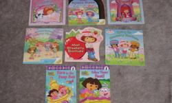 $2 each or 3 for $5 Dora in the deep sea Dora - follow those feet Disney's Love poem My Little Pony - Friends are never far away My Little Pony - Pinkie Pies Spooky Dream Barbie and the Magic of Pegasus Little Einsteins - Butterfly Suits Cabbage patch