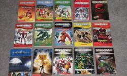 NOW each book $1 Bionicle Chronicles #1- Tale of the Toa Bionicle Chronicles #2-Bewareof the Bohrok Bionicle -Chronicles #3 -Makuta's Revenge Bionicle - #3 City of Legends Bionicle Web of Shadows Bionicle Adventures-Mystery of Metru Nui #1 Bionicle