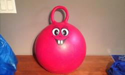 Lots of fun for kids... Happy face ball you can bounce on and ride.