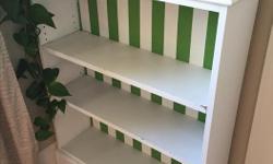 Super cute painted kids bookshelf. Adjustable shelves. 30 (w) x 38.35 (h) x 8.3/4 (d)