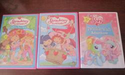 I've got a big lot of kids DVD's. Lot's of Curious Buddies, Sesame Street, Strawberry Shortcake and a few others. $5/each, willing to make a deal on multiple movies. Thanks for looking