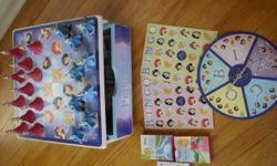 "Monopoly Junior, Mr Bucket, Elefun $5 Princess set includes cards, bingo, ""chess""pieces $7"