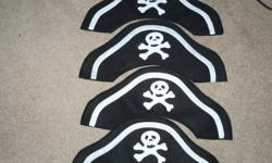 Felt Pirate hats.Great for a party