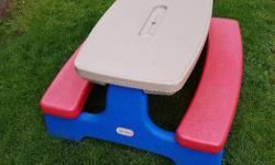 Little Tikes folding picnic table.