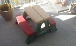 Kids picnic table. Asking $10