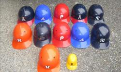 $30 for all, must sell as a lot These are not real baseball helmets. These are from the 70's used as collectable helmets.