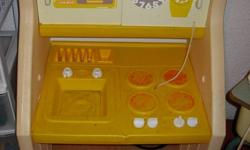 Kids Play Kitchen $10.00 obo   If you are at all interested please call 763-6769, this item is old but has been through many children and is still in great shape.   Will be good for a daycare or care home.   Item will be removed if sold!!