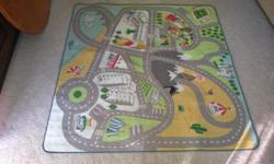 Kids fun roads carpet