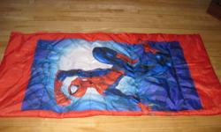 Spiderman sleeping bag SOLD!!   Hi, I am selling two kids size sleeping bags... hardly ever used and in great shape... one is caillou and one is spiderman...   asking $5.00 each   comes from smoke free/pet free home...   Contact Nikki 613 635 1416