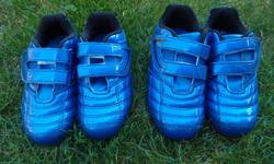 Little Kids soccer cleats one is a size 10 the other size 12... Only worn 5 times...