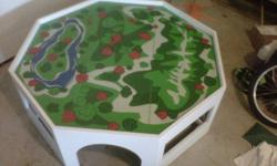 For Sale Kids Thomas Train Table This is a 4? octagon table There are no trains or bins included just the table Kids have gotten to big for the table, look at pictures and video ( link below) its in good shape, but remember its been used by kids, nothing