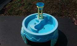 Step2 Water/Play Table gets little minds and hands active as they play with the waterwheel and little boats.