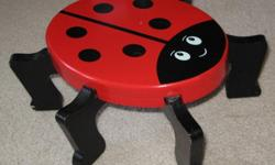 """Amuse your child with this cute ladybug stool. It is 13cm (5 1/4"""") tall."""