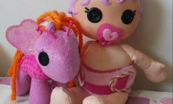 Good condition and clean! $10 for both Lalaloopsy Pony Flutterwings Lalaloopsy soft Baby 250 204 677four(4)