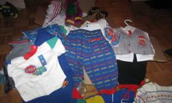 LARGE BAG OF BABY BOY CLOTHING FROM SIZE NEWBORN TO SIZE 3 ex OSH COSH and so much more