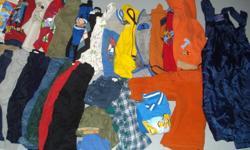 Large Bag of Size 2 Clothing  $50 19 shirts/sweaters/vests 16 pants 3 shorts 2 pyjamas 1 coat 1 snowpants 2 hats