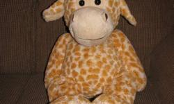 Large Stuffed Giraffe and Frog in great condition from a smoke and pet free home. $5 each.
