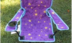 Kids Coleman glow in the dark lawn chair. Barely used. Posted on other sites. No holds.
