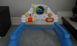 2 Stages for Baby: Laying down or in sitting position Music and Talking Learn to count, say hello in a few different languages are just some activities to learn. In great condition   Please see other ads