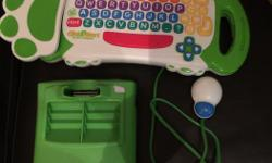 In brand new condition with batteries Turns television into a learning computer and teaches how to use mouse and keyboard and to navigate screens Miniature mouse for little fingers to point and click; colored buttons to help learn keystrokes Four learning
