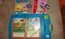 I have a Leap Pad from Leap Frog ..it comes with 3 books and 3 cartages . You can see from the photo which ones.... Please call or email during the daytime only.... as I am away all evenings.. Coreena 705 728 8156