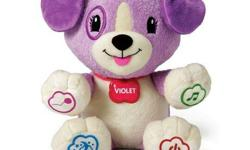 Originally $39.99. Interactive toy. You can connect My Pal Violet with your smart phone, tablet or computer so you can customize the music and personalize the learning with your child's name and favorite food, animal and color. Violet comes with 5