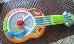 LeapFrog Learn and Groove: Animal Sounds Guitar $10 Features * Rock away while the animals play! * Language switch enables bilingual learning (French and English) * Features three ways to play: Numbers, Animals and Music Play learning modes. * Lively