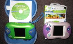 This offer gives you a CHOICE of a Green Leapster 2 complete with Carry-Case ... OR ... a Pink Leapster 2 complete with a Digging for Dinosaurs Game in a game case. They both look and work great... see pix. My Price ... Now Reduced to $45.00 each.