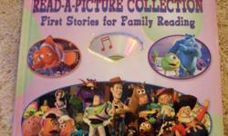 Learn to Read with Disney-Pixar Read-a-Picture Collection. NEW. A learn to read aloud book.  First Stories for Family Reading with read a picture guides (see pics).  Includes a CD for reading aloud, and musical fun as well as stickers and a fold-out