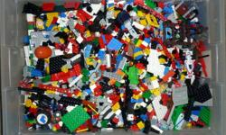 1000's of pieces in one container, wheels, people, build monster projects. Great Christmas gift, See Pictures $200 firm