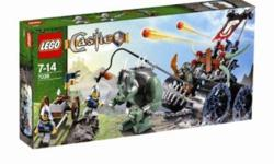 """Complete, includes second troll and assault wagon...... Push down button and let go to send the missiles flying, The spikes and flag on the wagon move up and down. Giant troll is 3"""" (8cm) tall. Wagon measures 41/2"""" (11cm) wide; with giant troll, set"""