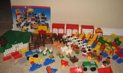 This is the real LEGO Duplo not Mega Blok.   If you are looking for a play farm or more legos for your kid(s) stop right here! The farm animal set shown is just the beginning, you can actually 'buy the farm' DUPLO DACTA set #9133 and get 118 pieces ! You