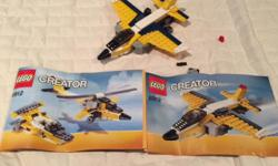 Lego set can make a plane, boat and helicopter. Part of enormous lego collection. Will be posting lots of ads over time as selling everything and open to offers on multiple purchases.