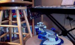 starwars lego droid tank built put on shelf never played with.