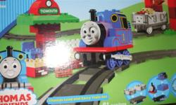 """LEGO Duplo Thomas & Friends - Thomas Load and Carry Train Set 61-piece set Includes Thomas and 16 pieces of train tracks 19Lx4-1/2Hx11-1/4W"""" 4Hx11Wx19L"""" Still in box, only used twice since last xmas."""