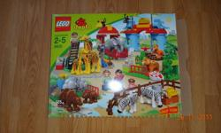 Like new- still in original box with instructions. Largest LEGO set! Great preschool building toy. 125 pieces. Suitable for ages: 2-5 years old. Hours of playing and learning. Makes a great gift for animal lover. Pet&smoke free home.