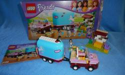 Lego Friends Emma Horse Trailor, fully assembled with box and instructions