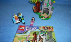 Lego Friends First Aid Jungle Bike, fully assembled with instructions. All pieces present