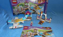 Lego Friends Heartlake Flying Club, fully assembled with box and instructions
