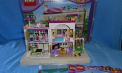 Lego Friends Olivas House fully assembled with box and instructions.