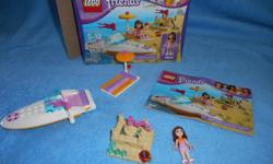 Lego Friends Olivias Speed Boat fully assembled with box and instructions