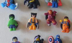Set of 10 Lego Mini Figures magnets Kids love them! great for parties to. Canada Post shipping available @ $2.50 Pay Pal payment accepted